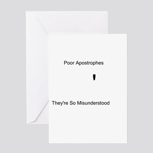Apostrophe Misunderstood Greeting Card