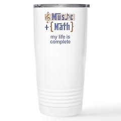 Music and Math Stainless Steel Travel Mug