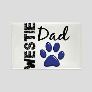 Westie Dad 2 Rectangle Magnet