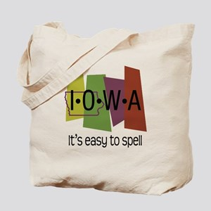 Iowa Easy to Spell Tote Bag