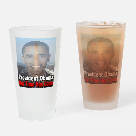 President Obama/Our Time Has Drinking Glass