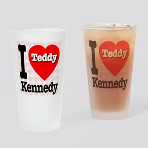 I Love Teddy Kennedy Drinking Glass