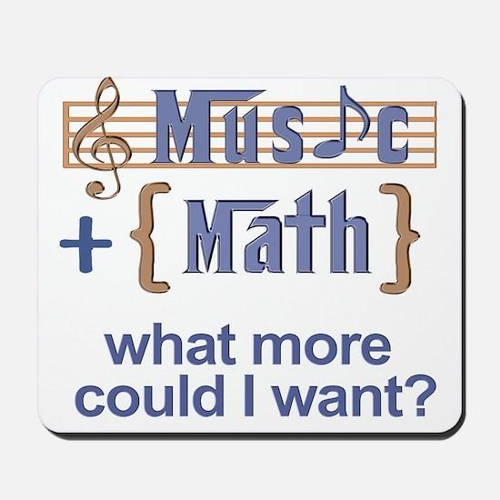 Music plus math Mousepad