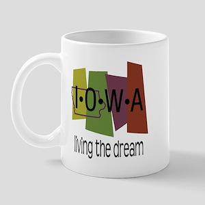 Iowa Living the Dream Mug