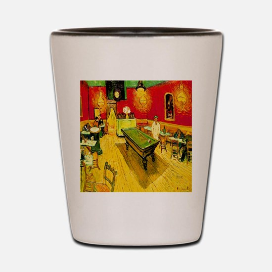 Night Cafe Golden Shot Glass