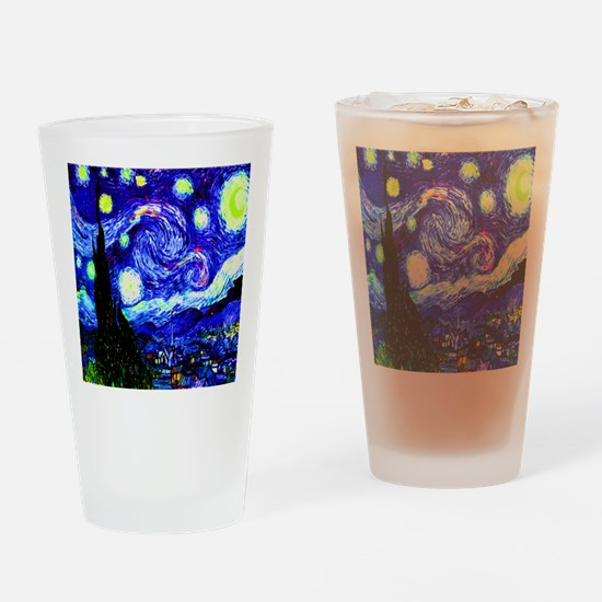 Starry Night in Midnight Blue Drinking Glass