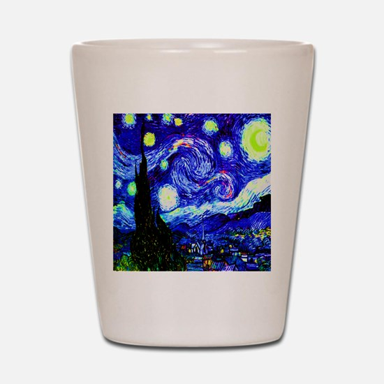 Starry Night in Midnight Blue Shot Glass