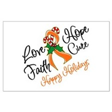 Holiday Hope Kidney Cancer Large Poster