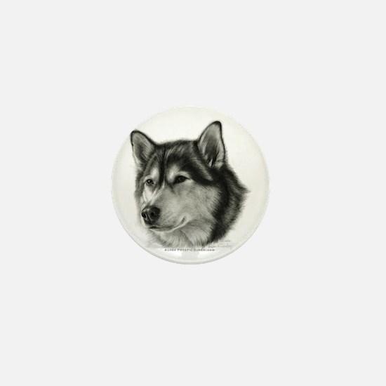 Alaskan Malamute Mini Button