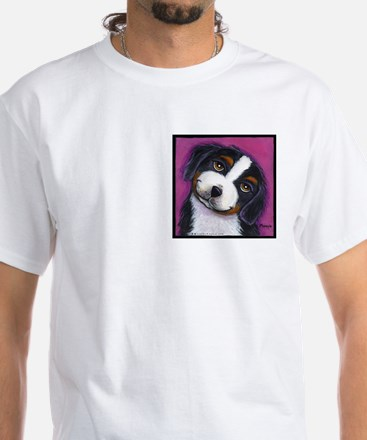 Bernise Mountain Dog White T-Shirt