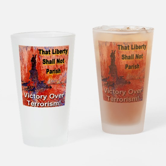 Victory Over Terrorism Drinking Glass