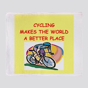 cycling Throw Blanket