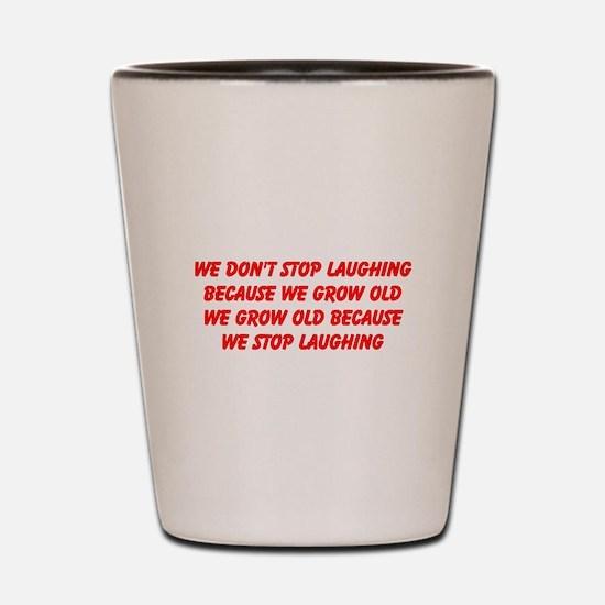 growing old merchandise Shot Glass