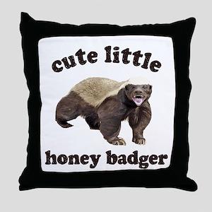 Cute Lil Honey Badger Throw Pillow