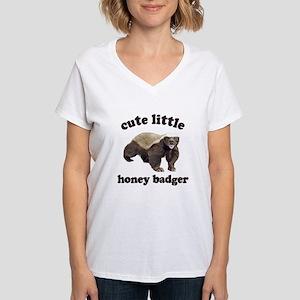 Cute Lil Honey Badger Women's V-Neck T-Shirt