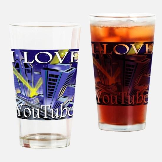 I Love YouTube Metropolis Spo Drinking Glass
