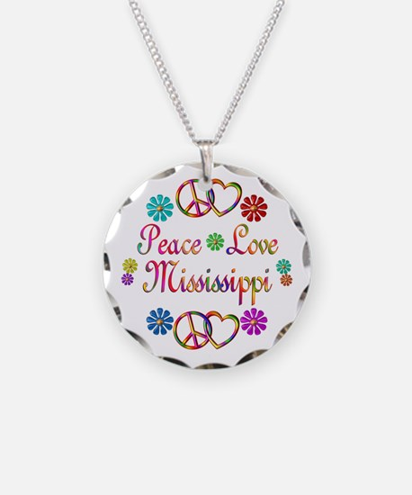 Peace Love Mississippi Necklace