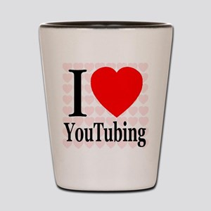 I Love YouTubing Shot Glass