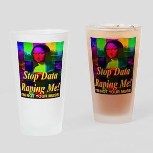 Mona Lisa Rainbow Mosaic I'm Drinking Glass