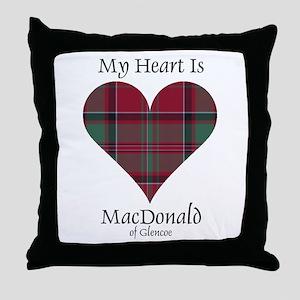 Heart - MacDonald of Glencoe Throw Pillow