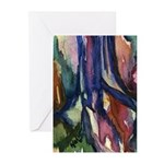 Brightly Colored Watercolor Trunk Greeting Cards (