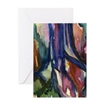 Brightly Colored Watercolor Trunk Greeting Card