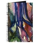 Brightly Colored Watercolor Trunk Journal