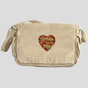 Football & Pizza Messenger Bag