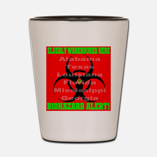 Biohazard Alert Shot Glass