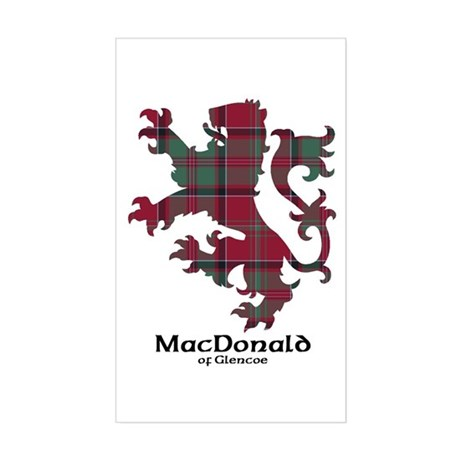 Lion - MacDonald of Glencoe Sticker (Rectangle)