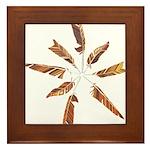 Feathers Mandala Framed Tile