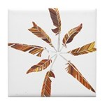 Feathers Mandala Tile Coaster