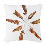Feathers Mandala Woven Throw Pillow
