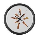 Feathers Mandala Large Wall Clock