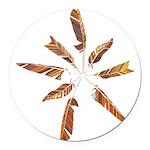 Feathers Mandala Round Car Magnet
