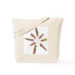 Feathers Mandala Tote Bag
