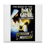 Book of the Holy Grail Tile Coaster
