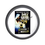 Book of the Holy Grail Wall Clock