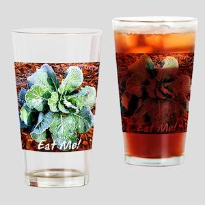 Eat Me Collard Green Drinking Glass