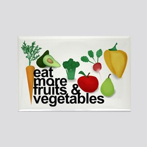 Eat Fruits & Vegetables Rectangle Magnet