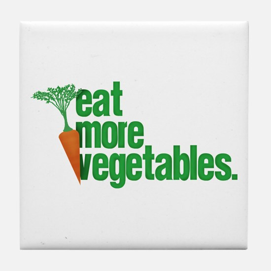 Eat More Vegetables Tile Coaster