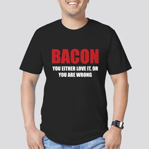 Bacon you either love it Men's Fitted T-Shirt (dar