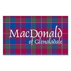 Tartan-MacDonaldGlenalad Sticker (Rectangle 10 pk)