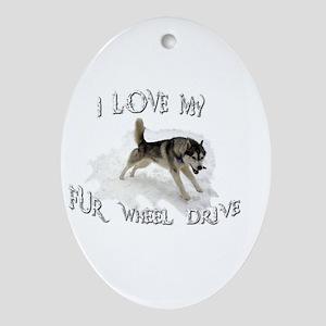 I LOVE My FUR-WHEEL Drive Ornament (Oval)