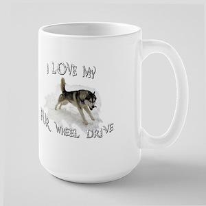 I LOVE My FUR-WHEEL Drive Large Mug