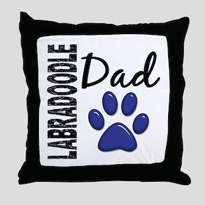 Labradoodle Dad 2 Throw Pillow