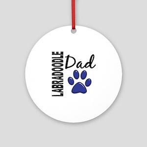 Labradoodle Dad 2 Ornament (Round)