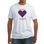 Heart - MacDonald of Glenaladale Fitted T-Shirt