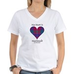 Heart - MacDonald of Glenaladale Women's V-Neck T-