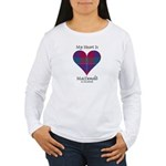 Heart - MacDonald of Glenaladale Women's Long Slee